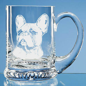 Image Is Loading French Bulldog Dog Lover Gift Engraved Beer Tankard