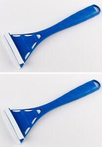 2 Eiskratzer Murska Eisschaber 286mm Dreieck aus Acryl aus Finnland blau