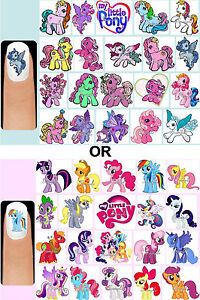 60x-MY-LITTLE-PONY-Original-or-Modern-Nail-Art-Decals-Free-Gems-Horse-Unicorn
