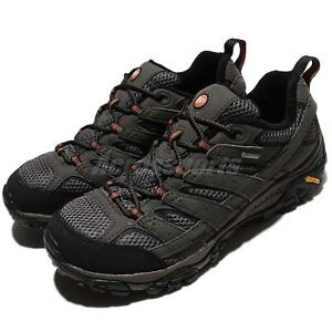 Merrell Moab 2 GTX Gore-Tex Grey Black Men Outdoors Boots Sneakers ... cfadf92949