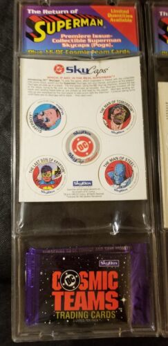 POGS The RETURN OF Superman Premiere Issue Collectable SkyCaps 1993