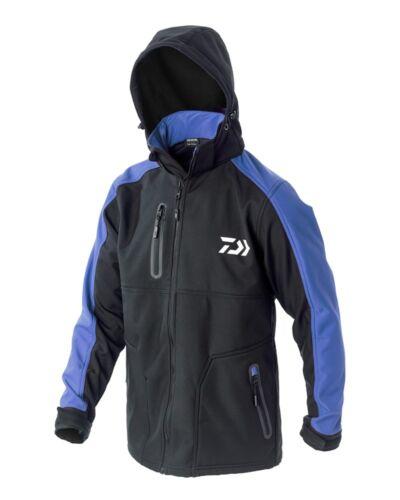 Daiwa NEW Softshell Fishing Jacket NEW FOR 2018 BLUE // BLACK All Sizes