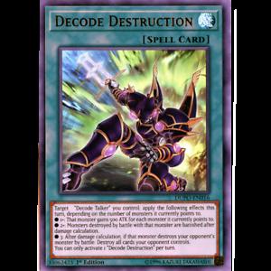 Ultra Rare Unlimited x3 Decode Destruction DUPO-EN016