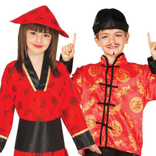 Come 5-6 anni GUIRCA Costume Vestito Cinese Orientale Carnevale Bambino  (qjs)  c3e6c639ed74