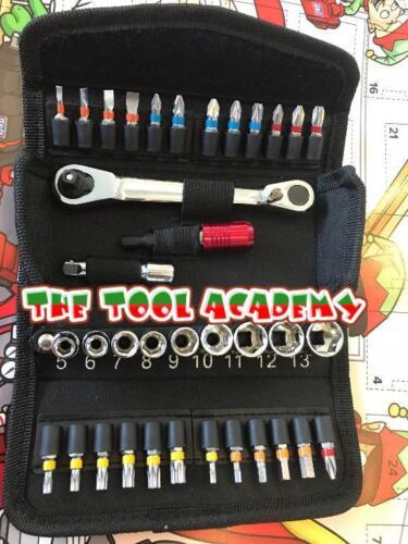 HOME Advent Calendar Ratchet Socket /& Bit Tool Set DIY Present Gifts TOOLS