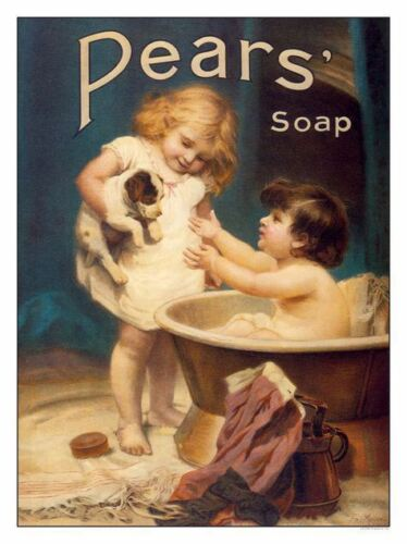 Pears Soap Retro Poster Print New