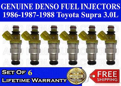 SET OF 6 DENSO OEM FUEL INJECTOR 1986-1988 TOYOTA SUPRA 3.0L V6 23250-70040