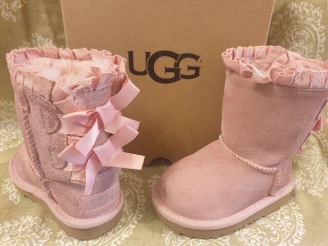 UGG Girls Bailey Bow Ruffles BOOTS Baby