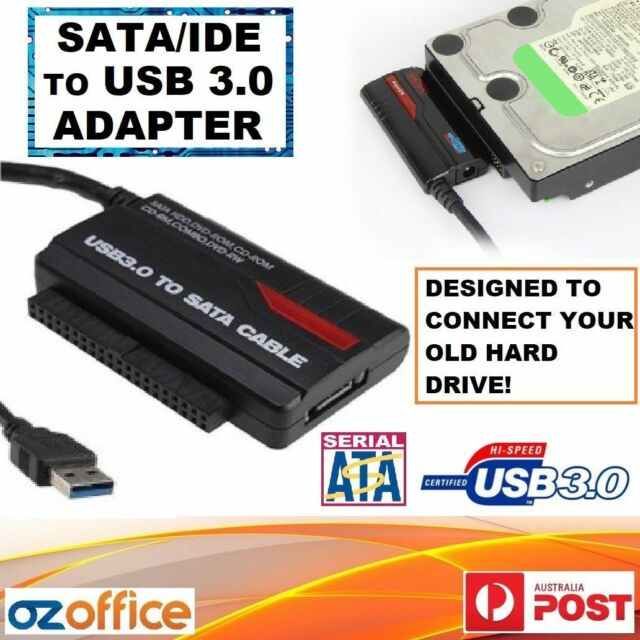 "Hard Drive SATA IDE to USB 3.0 Adapter Converter 2.5"" 3.5"" HDD SSD Data Recovery"
