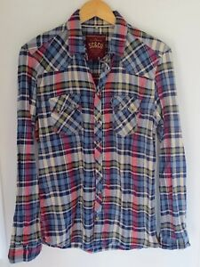 1bb906129b1 SOUL CAL   CO Men s Long Sleeved Blue Green Red Checked Shirt Size ...