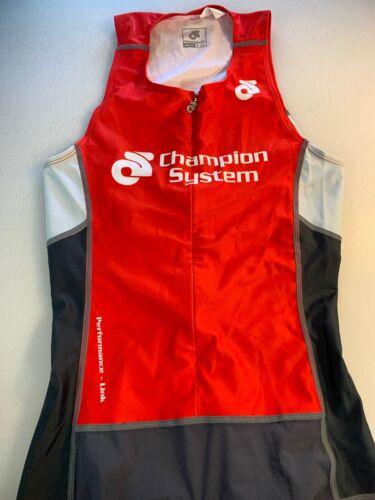 Champion System Mens Performance Link Tri Triathlon Suit Small S 6545-1