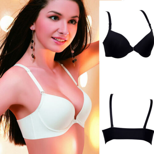 New Woman/'s Push Up Front Open Closure Fastening Support Thin Padded Bra C