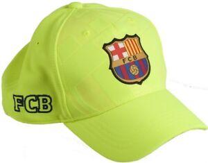 sfumature di taglia 7 seleziona per originale Dettagli su Cappello Barcelona ufficiale Barcellona Originale Barca  berretto fluo Giallo