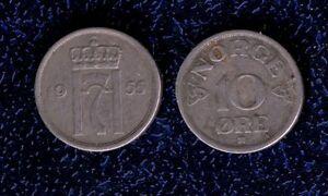 NORVEGIA-10-ORE-1955-CU-NI-KM-396-BB-mrm