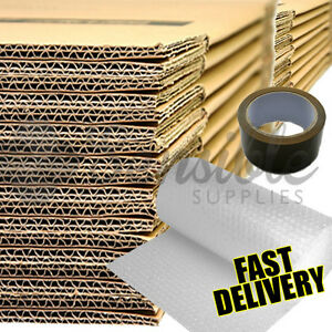 NEW 20 X LARGE DOUBLE WALL Cardboard House Moving Boxes - Removal Packing box 5056004013886