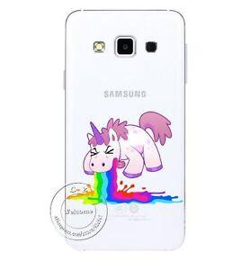 funny pink unicorn throw up rainbow hard case for samsung galaxy ebay