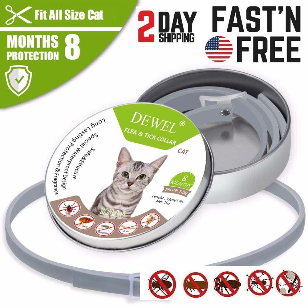 Dewel Cheaper than Seresto! Flea & Tick Collar For Cats 8 MO