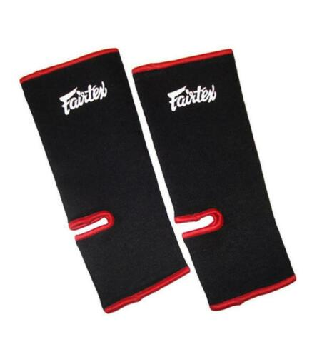 FAIRTEX ANKLE GUARD ANKLE SUPPORT BLACK RED SPARRING /& TRAINING