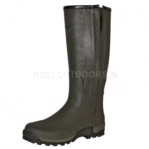 Seeland Estate Vibram 18  Leather Lined Full Length Side-Zip Wellington Boots