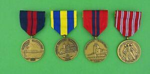 Navy-Campaign-Medals-Dominican-Nicaraguan-Hatian-West-Indies-Lot-of-4