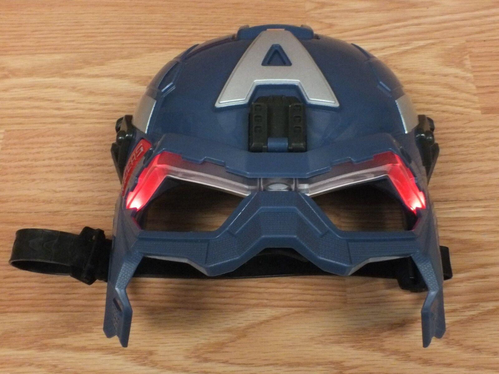 Genuine Hasbro 2013 Marvel Captain America Rodgers Light up Mask w  Straps