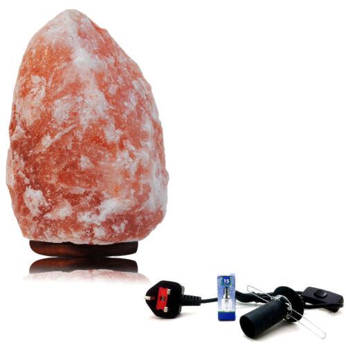 3-5KG natural ionisant de l/'himalaya cristal de roche sel nuit lampe de bureau uk plug cable