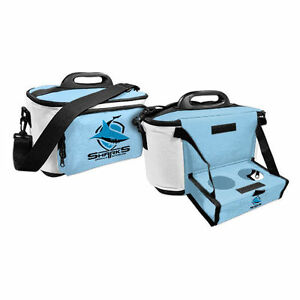 NRL-Drink-Cooler-Bag-With-Tray-Cronulla-Sharks-Team-Logo-BNWT
