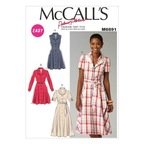 McCall/'s 6891 Sewing Pattern per rendere Camicia Abiti con//senza maniche