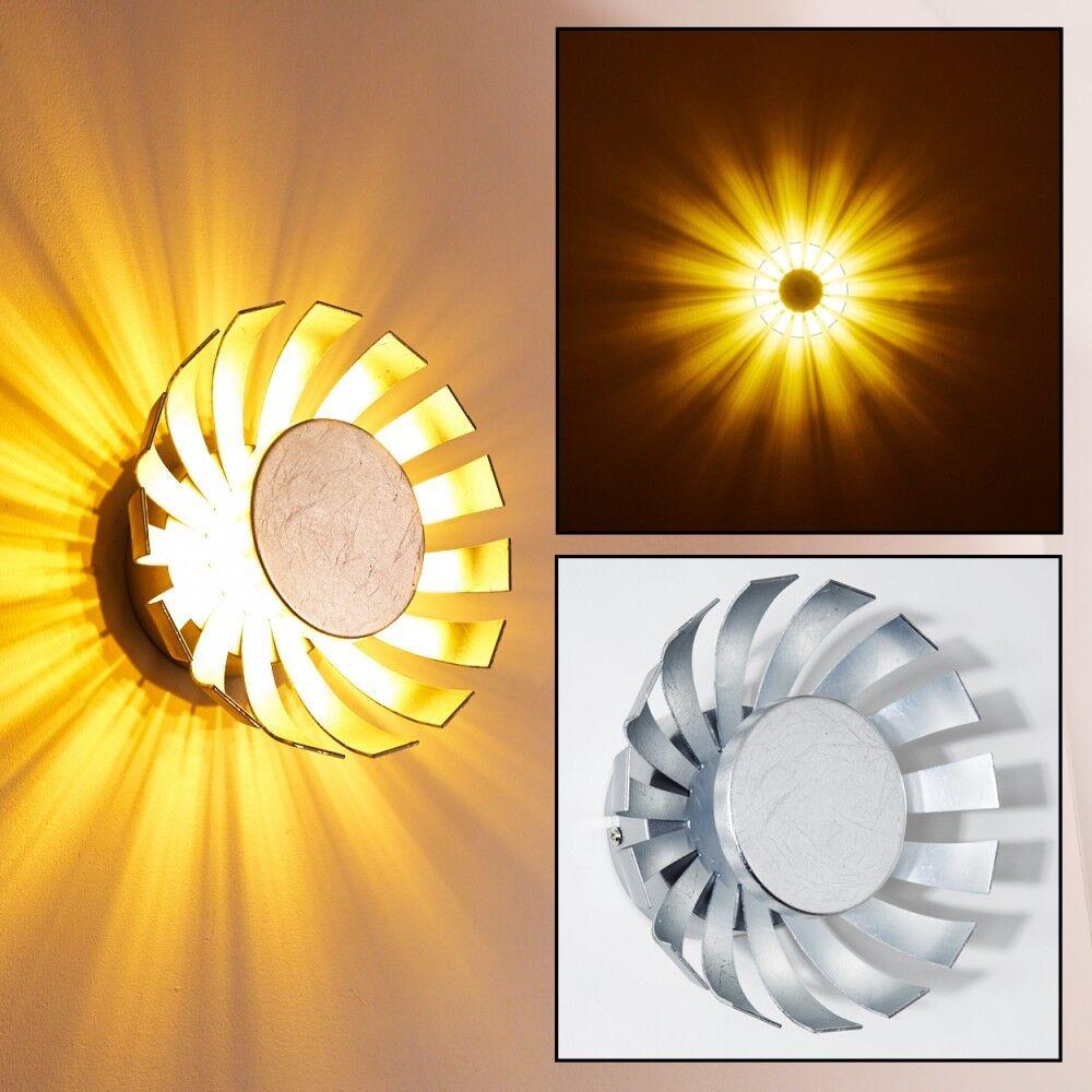 LED Wandleuchte Design Flur Lampe Lampe Lampe Wand Strahler Wohn Zimmer Leuchte silberfarbig | Neuartiges Design  62d233