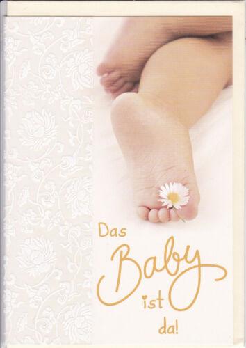 1 Glückwunschkarte zur Geburt eines Baby Mädchen Junge Grusskarte   #113683