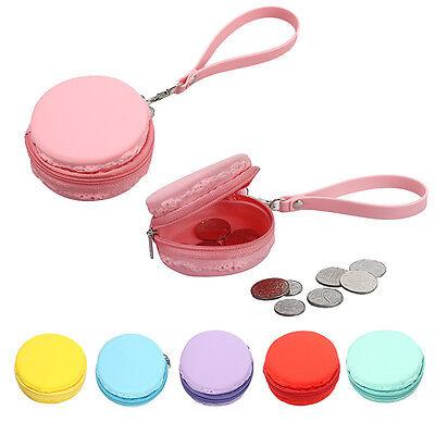 Cute Women Change Purse Wallet Macaron Silicone Waterproof Coin Bag Mini Pouch