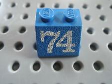 Monitor Tasten 7066 Lego 1 x Schrägstein 3039pb054 weiß 2x2  bedr