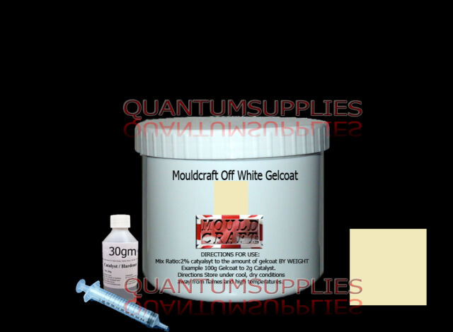 MOULDCRAFT OFF WHITE GELCOAT 500g kit  FOR FIBREGLASS moulds resin boat repair