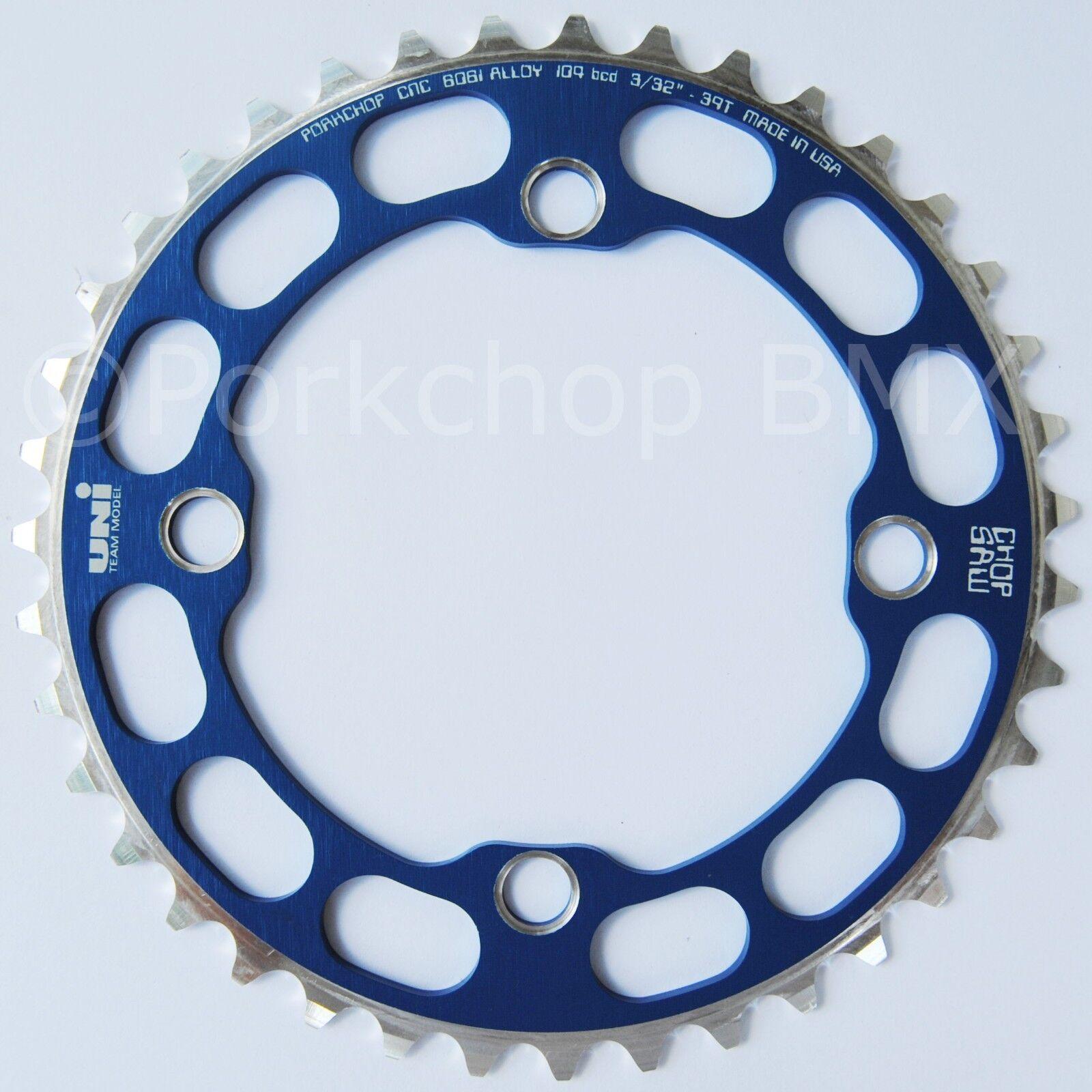 Porkchop BMX single speed bicycle Chop Saw I Chainring 39T 4 bolt 104 bcd blueE