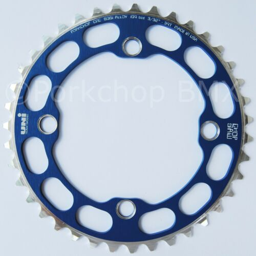 Porkchop BMX single speed bicycle Chop Saw I Chainring 39T 4 bolt 104 bcd BLUE