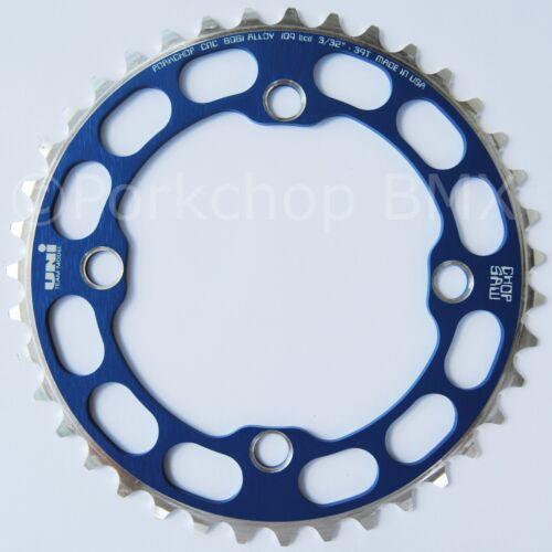 Porkchop BMX single speed bicycle Chop Saw I Chainring 39T 4 bolt 104 bcd BLUE