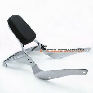 Backrest Sissy Bar luggage Rack Pad for SUZUKI Volusia