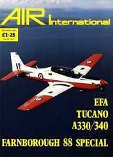 AIR ENTHUSIAST INTERNATIONAL MAGAZINE 1988 SEPT - FARNBOROUGH 88 SPECIAL
