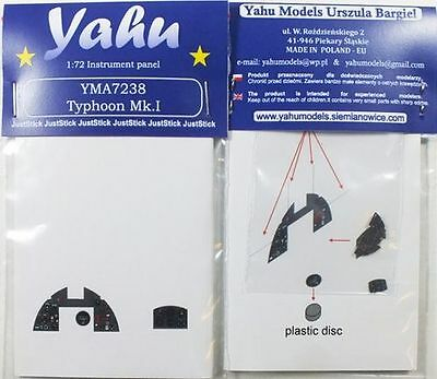 Yahu Models YMA7238 1/72 PE Hawker Typhoon Mk.I Instrument Panel