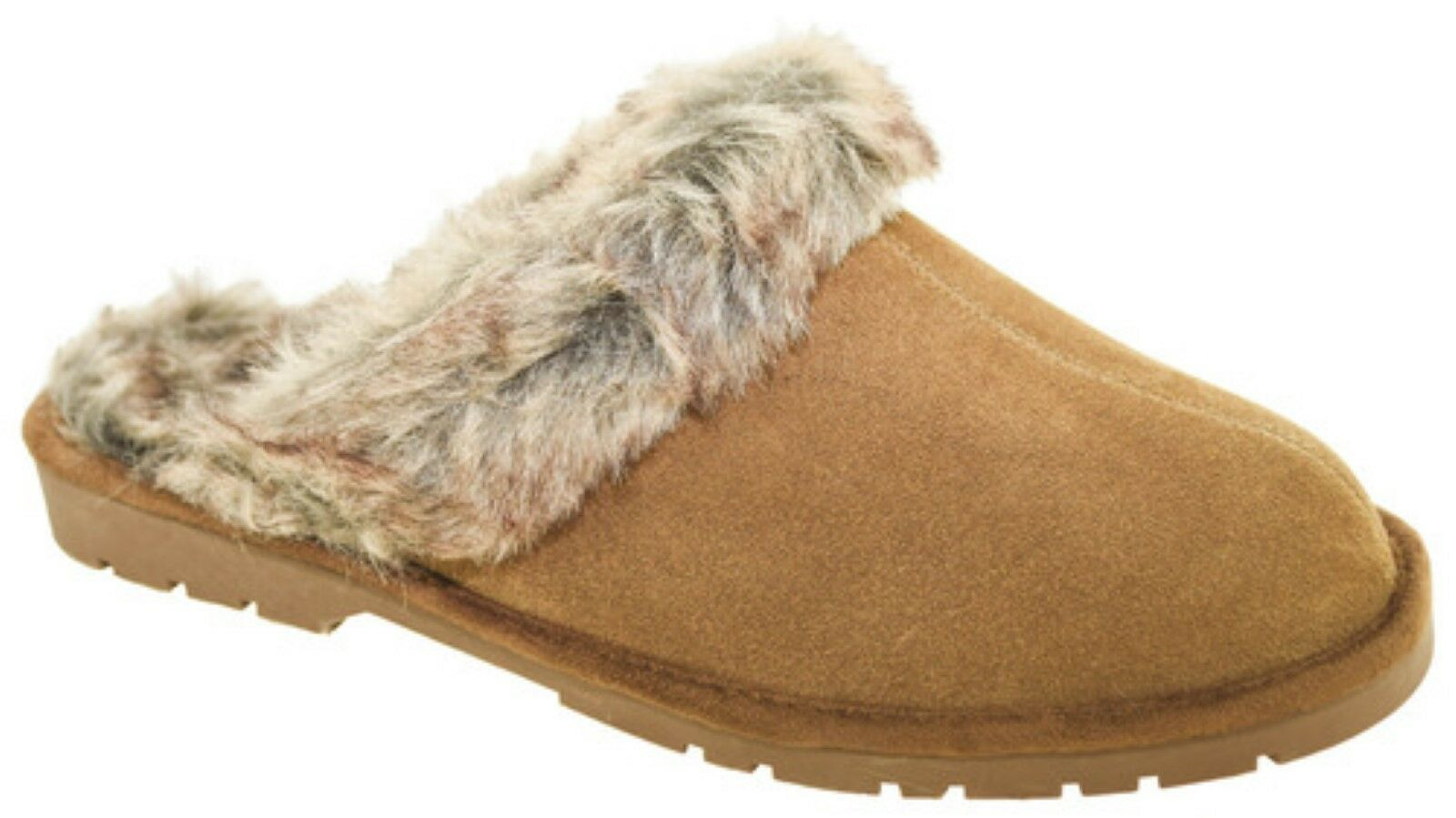 NEW SPORTO JASMINE 2 SUEDE LEATHER SHEARLING SLIPPERS SCUFFS SLIDES BROWN M 7 8