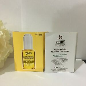 NEW-Kiehl-039-s-Daily-Reviving-amp-Nightly-Refining-Concentrate-0-14oz-4ml-Each
