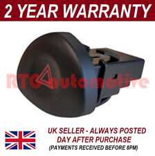 FOR RENAULT CLIO ALL MODELS RED TRIANGLE HAZARD WARNING LIGHT SWITCH BUTTON DASH