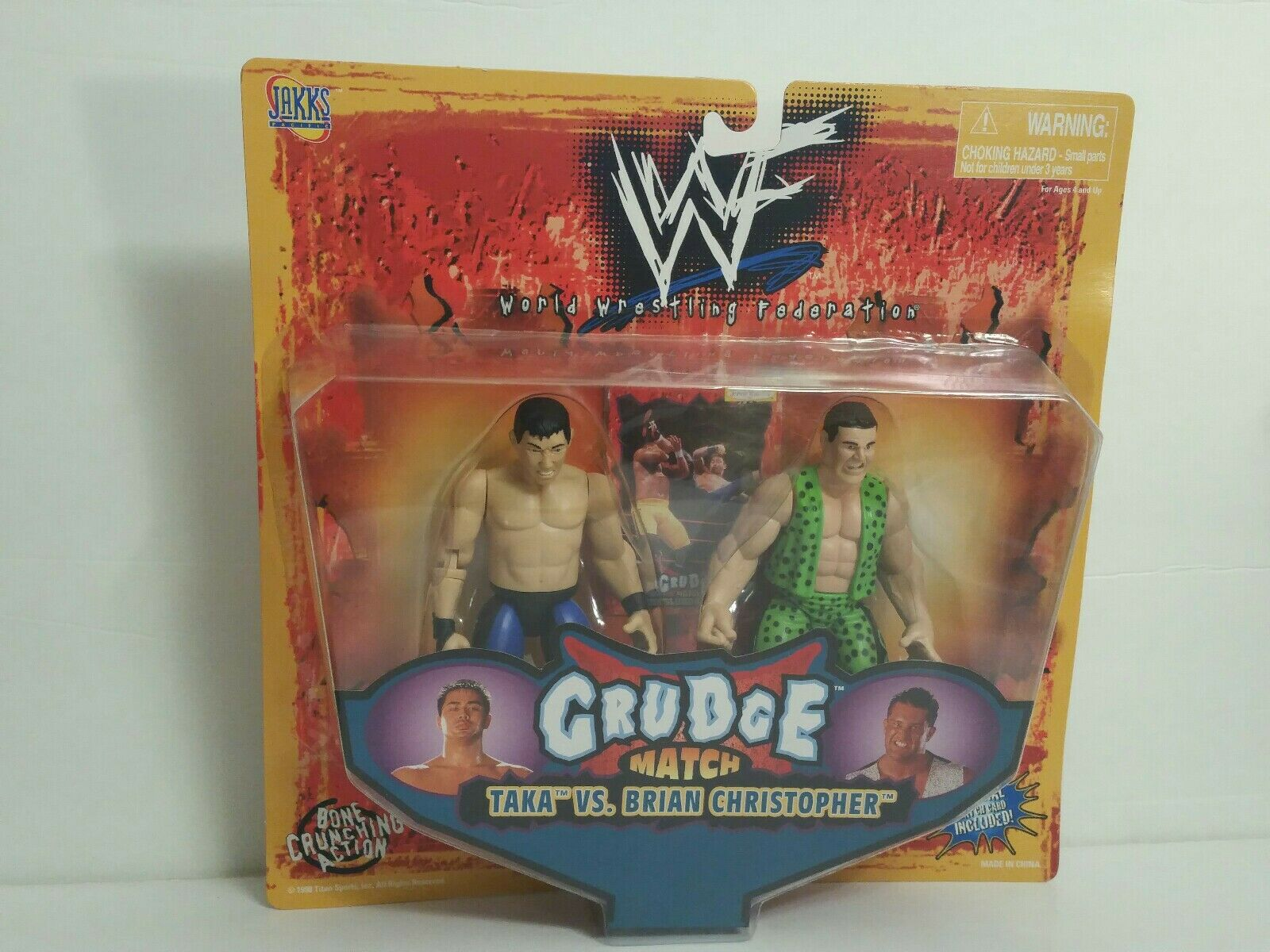 WWF GRUDGE MATCH TAKA VS. BRIAN CHRISTOPHER ACTION FIGURES(056)