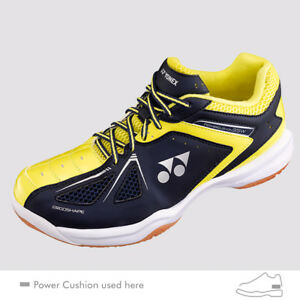 Details About Yonex Power Cushion 35 Wide Badminton Shoes Shb35w Navy Yellow Unisex