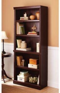 5-Shelf Bookcase Adjustable Storage Bookshelf Home Office Living ...