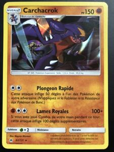 Carte-Pokemon-CARCHACROK-62-131-Holo-Soleil-et-Lune-6-SL6-FR-NEUF