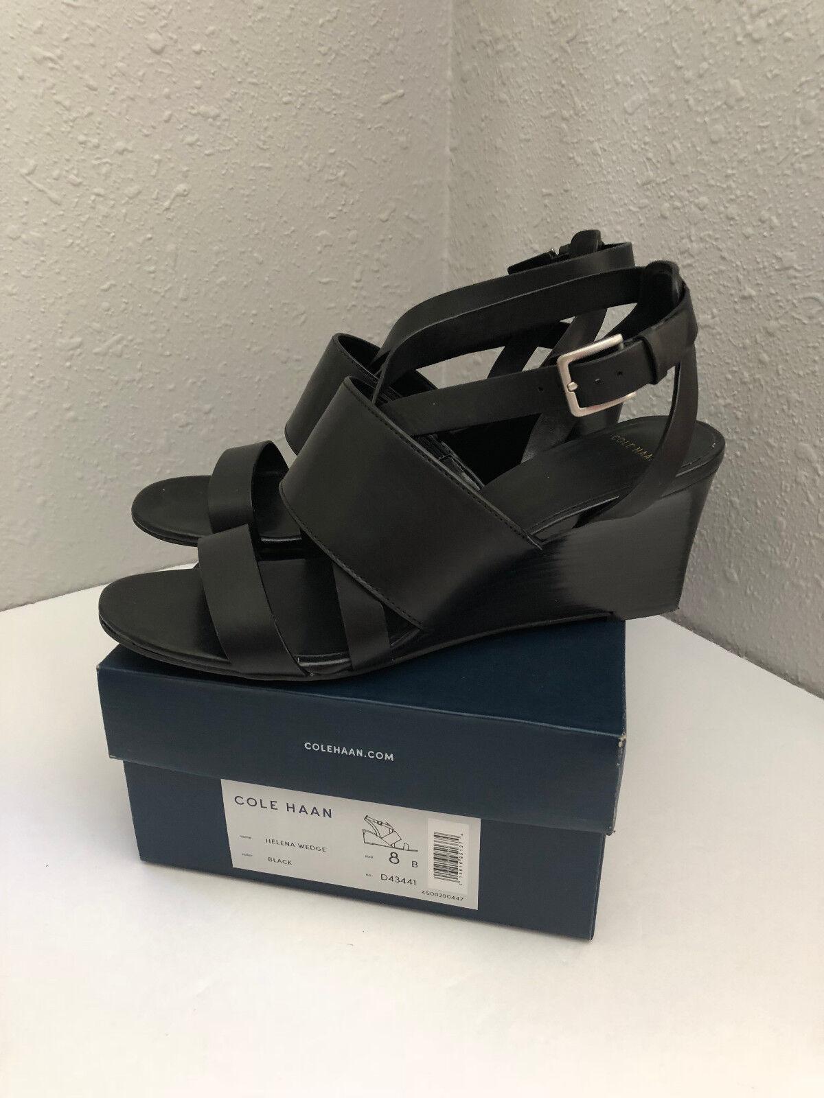 Cole Cole Cole Haan Helena Cuña Zapatos negro Tacones Talla 8 D43441  tienda en linea