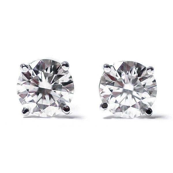 1/4 Ct Round Cut 14K White Gold Diamond Stud Earrings