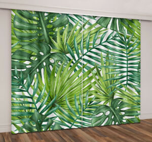 Image Is Loading Tropical Palm And Banana Leaves Blockout Curtain Drapes