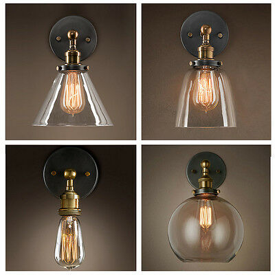 New Outdoor Bathroom Glass Wall Lampshade Sconce Light Fixture Fashion Styles